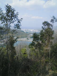 鏡山城址からの眺めです