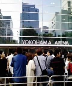横浜アリーナ入口付近!♪