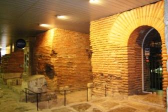 地下鉄工事の際に偶然発見されたセルディカの遺跡