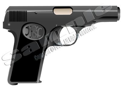 illust 拳銃 Browning-M1910