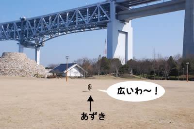 後ろのが瀬戸大橋です