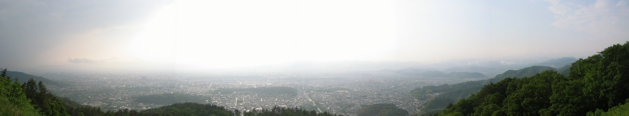 大文字山から