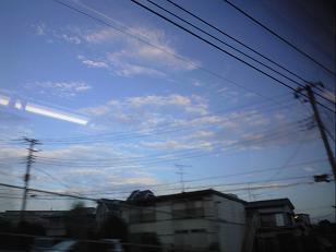 秋の空from電車
