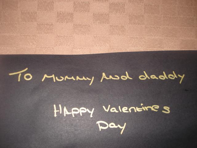 バレンタインメッセージ