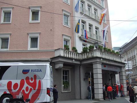 ロシアチームのホテル