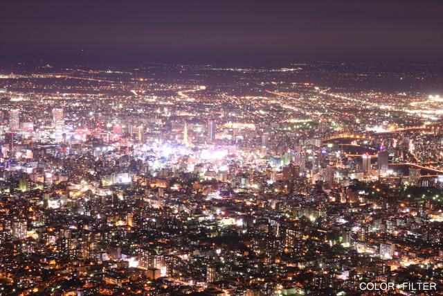 札幌中心街の夜景