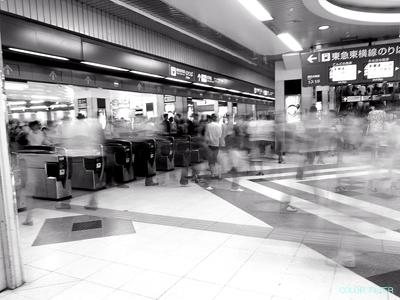 渋谷の改札