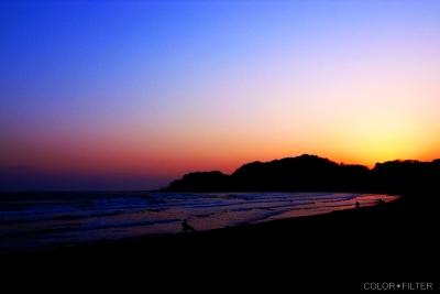 由比ヶ浜のサンセット