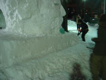 雪像2月1日(2日目)4