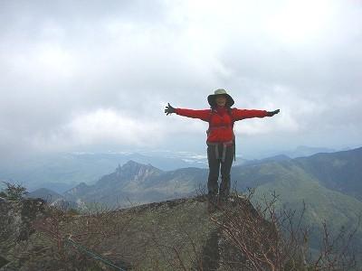 金峰山 山頂付近