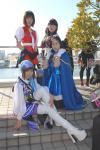 ファイブスター集合:(前左より)唯梨さん・りあさん(後左より)chocoさん・相楽さん