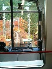 06/11/26 叡電 紅葉トンネル