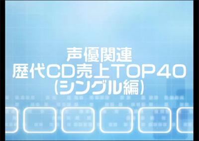 ニコニコ動画(RC)‐声優関連歴代CD売上TOP40(シングル編)+キャラソンTOP3