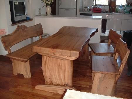 ダイニングテーブルセット(天板:一枚板・80mm)