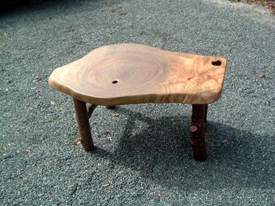 輪切りのテーブル(脚:さくら)