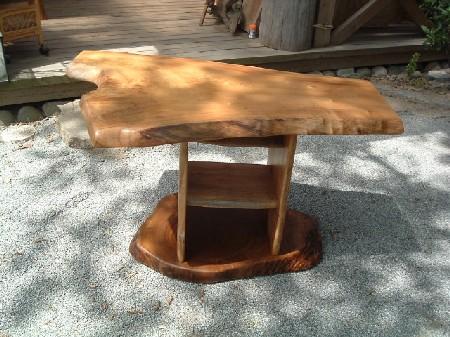コーヒーテーブル(棚2段付き)