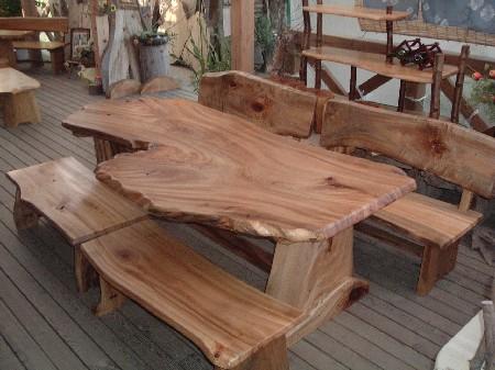 ダイニングテーブルセット(天板:一枚板)