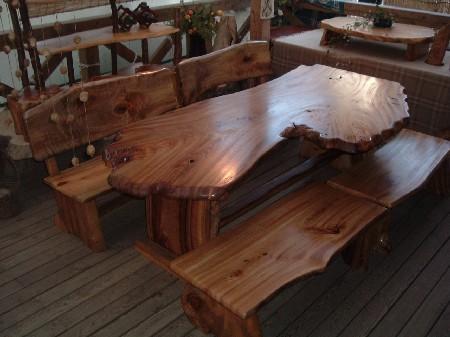 ダイニングテーブルセット(天板:一枚板)2