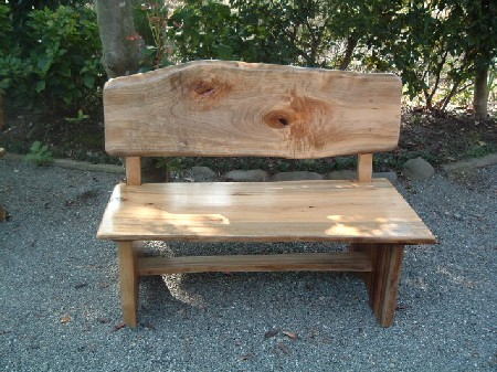背有りのベンチ、2