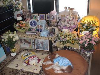 華やかな祭壇..