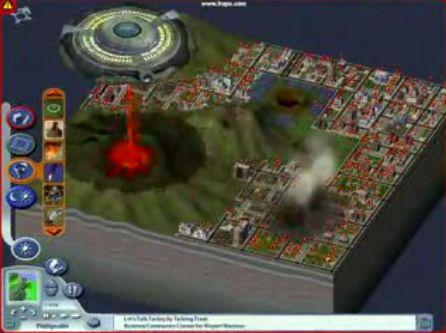 シムシティで作った町を破壊する