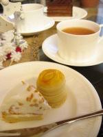 シフォンケーキとダージリン