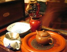 茶芸館にて