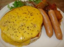 チェダーチーズのパンケーキ