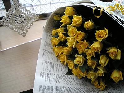 黄色の花束(ジュピター)