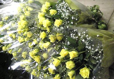 「ジュピター・カスミ草」の花束
