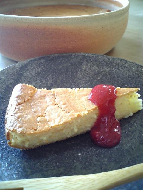 ベイクド酒粕チーズケーキ
