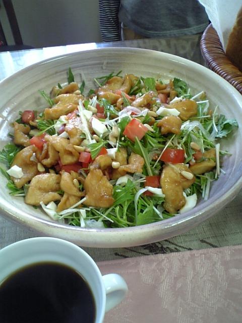 豚肉と水菜の南蛮サラダ