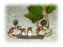 木で作ったトトロ's。