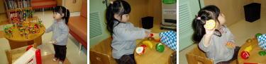 予防接種や検診の子対象の遊びスペース。