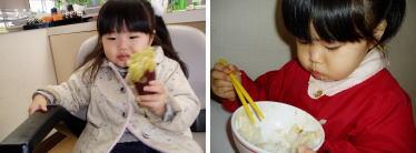 食べる子は育つ。