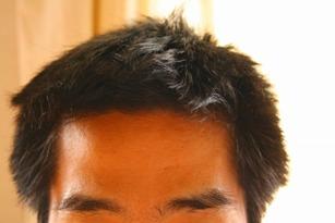 髪の毛長い