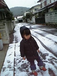 おうちの前の雪の様子