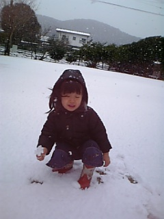 公園は一面真っ白!