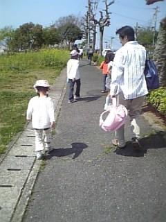 かばん持ち、パパ。