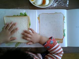 最後にパンを乗せて・・・
