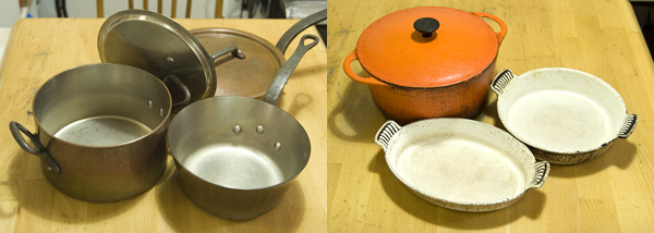 銅鍋と鉄鍋