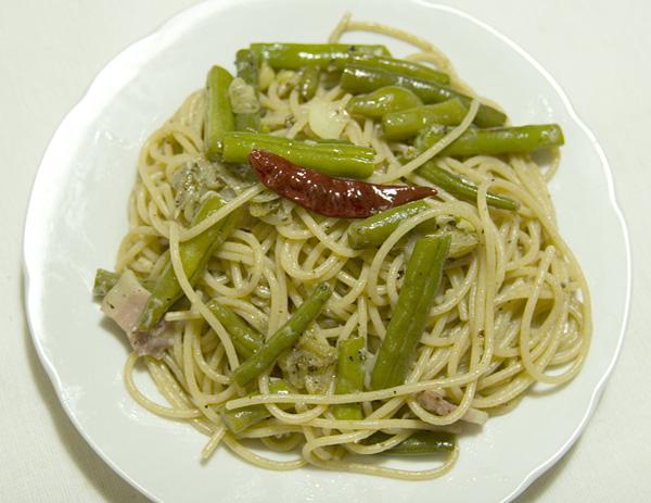 インゲンのスパゲティーニ