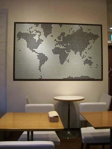 ちょっといびつな世界地図