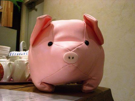 ピンクのぶた