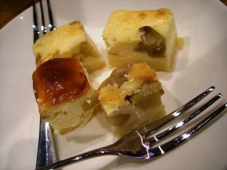 ナスのチーズケーキ