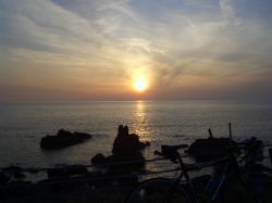 下田温泉からの夕日