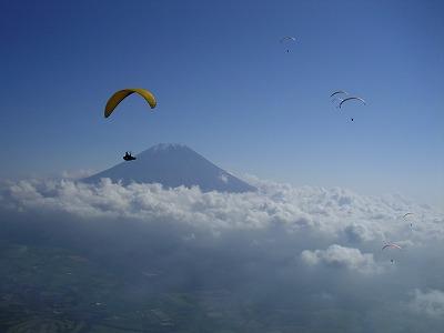 富士山とパラ