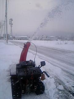 除雪機始動