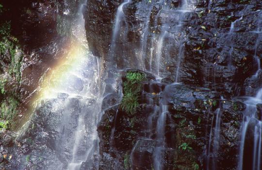 龍双ヶ滝 虹
