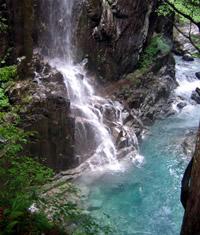 不動の滝景色